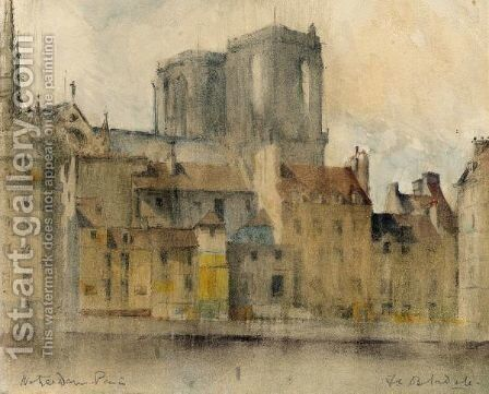 Notre Dame From The Seine, Paris by Francis Campbell Boileau Cadell - Reproduction Oil Painting
