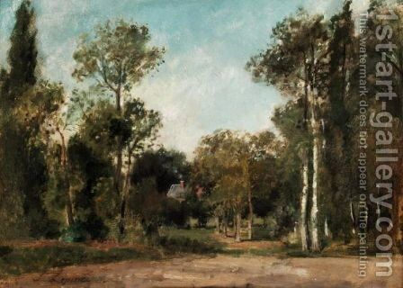 Paysage Boise by Stanislas Lepine - Reproduction Oil Painting