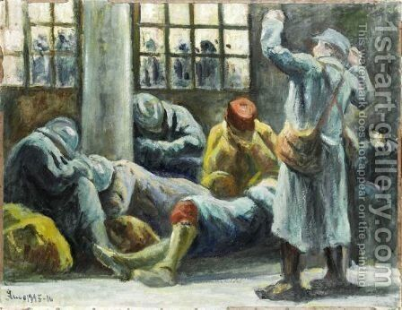 Gare De L'Est, L'Attente by Maximilien Luce - Reproduction Oil Painting