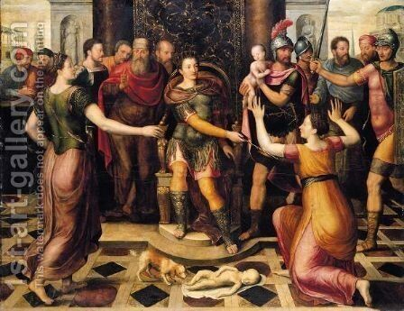 The Judgement Of Solomon by (after) Anthonie Claeissins - Reproduction Oil Painting