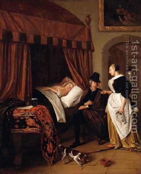 'The Physician's Visit' by (after) Jan Steen - Reproduction Oil Painting