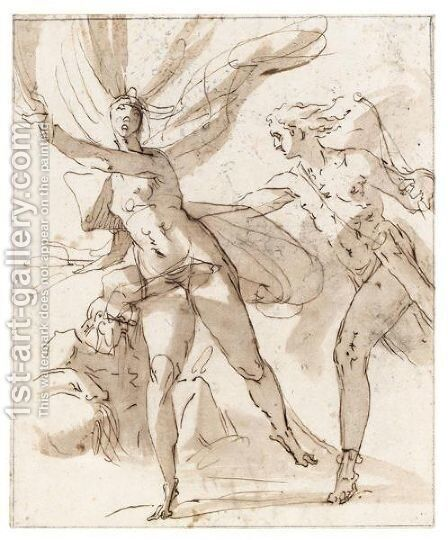 Apollo And Daphne by Dutch School - Reproduction Oil Painting