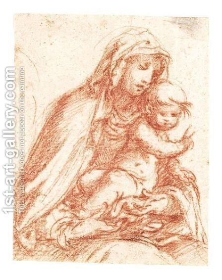 Madonna And Child by Cremonese School - Reproduction Oil Painting