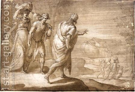 Noah Leading His Family Into The Ark by Dutch School - Reproduction Oil Painting