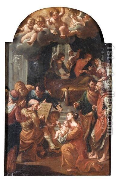 The Birth Of Saint John The Baptist by Neapolitan School - Reproduction Oil Painting
