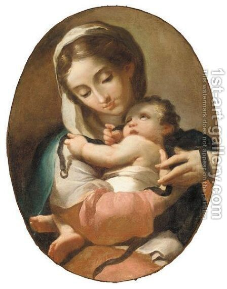 The Madonna And Child by (after) Domenico Pedrini - Reproduction Oil Painting