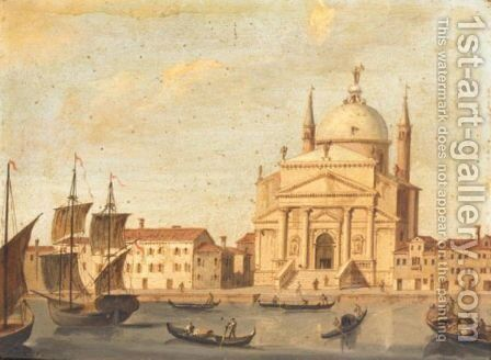 Venice, A View Of Il Redentore On The L'Isola Di Giudecca by (after) Vincenzo Chilone - Reproduction Oil Painting