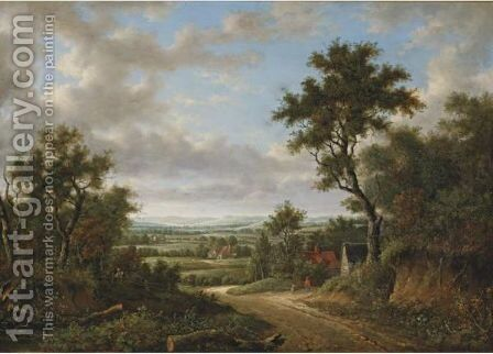 View In Surrey by (after) Patrick Nasmyth - Reproduction Oil Painting