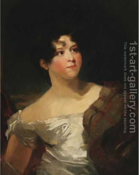 Portrait Of The Actress Mrs. Harriet Litchfield by (after) George Henry Harlow - Reproduction Oil Painting