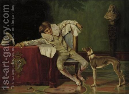 Il Paggio by (after) Francesco Vinea - Reproduction Oil Painting