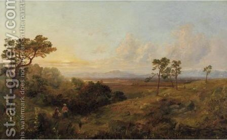 Landscape In The Campania With Shepherds And Traveler by Italian School - Reproduction Oil Painting