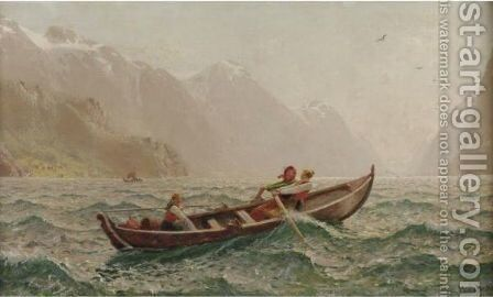 Out To Sea by Hans Dahl - Reproduction Oil Painting