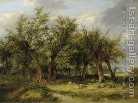 Willows By A Watercourse by James Stark - Reproduction Oil Painting