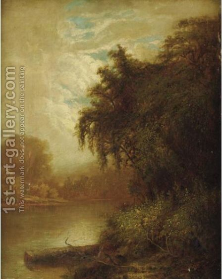 The Lake by Alexander Helwig Wyant - Reproduction Oil Painting
