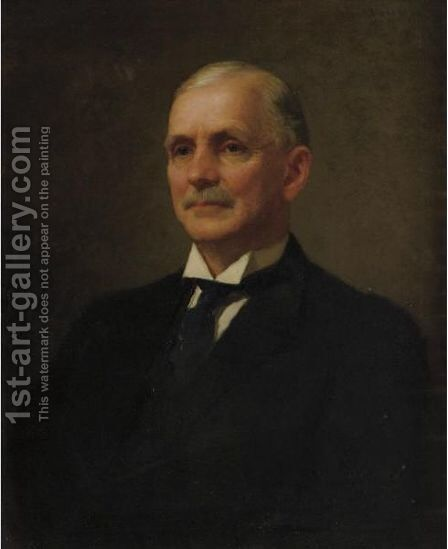 Portrait Of Albert Milch by Edmund Charles Tarbell - Reproduction Oil Painting