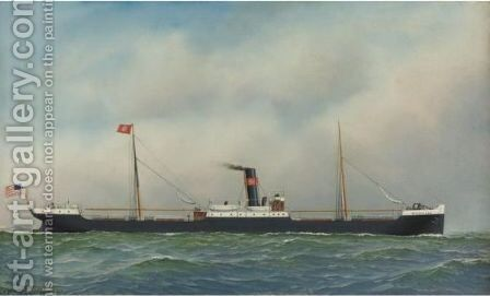 The M.S. Dollar by Antonio Jacobsen - Reproduction Oil Painting