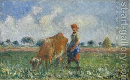 La Vachere 2 by Camille Pissarro - Reproduction Oil Painting