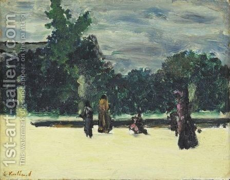 Autour Du Bassin, Aux Tuileries by Edouard  (Jean-Edouard) Vuillard - Reproduction Oil Painting