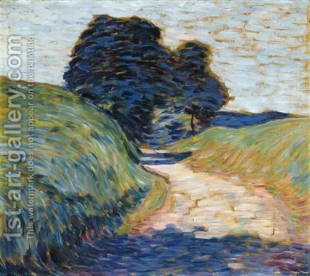 Weg Mit Baume (Path With Trees) by Alexei Jawlensky - Reproduction Oil Painting