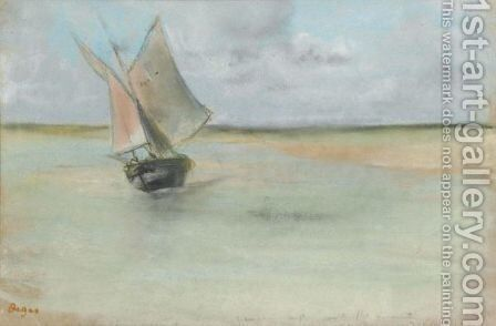 Bateau De Peche A L'Entree Du Port De Dives by Edgar Degas - Reproduction Oil Painting