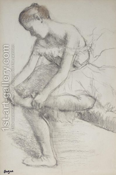 Danseuse Assise by Edgar Degas - Reproduction Oil Painting