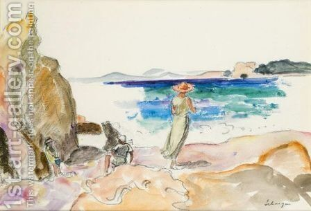 Au Bord De La Mer by Henri Lebasque - Reproduction Oil Painting