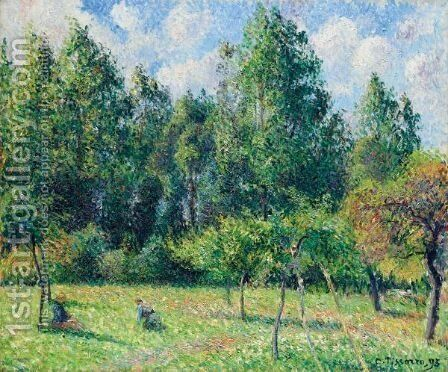 Les Peupliers, Matin, Eragny by Camille Pissarro - Reproduction Oil Painting