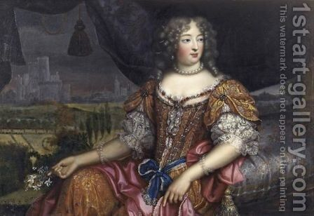 Portrait Of A Lady Said To Be Madame De Montespan by (after) Mignard, Pierre II - Reproduction Oil Painting