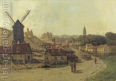 By The Antwerp Harbour by Gustave Mascart - Reproduction Oil Painting