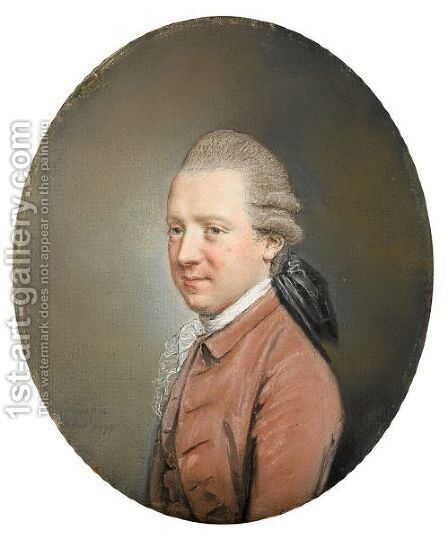 Portrait Of Charles John Crowle Of Fryston Hall, Yorkshire by Hugh Douglas Hamilton - Reproduction Oil Painting