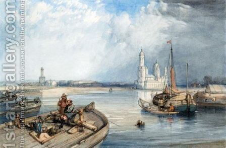 The Church Of St. Nicholas, St. Petersburg by Alfred Gomersal Vickers - Reproduction Oil Painting