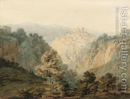 Ariccia, Near Rome by Turner - Reproduction Oil Painting