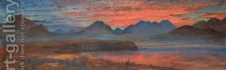 The Gulf Of Corinth At Sunset by Andrew Mccallum - Reproduction Oil Painting