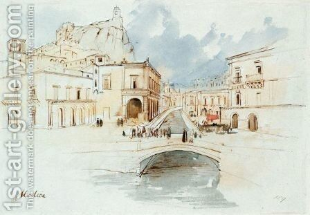 Modica, Sicily by Edward Lear - Reproduction Oil Painting