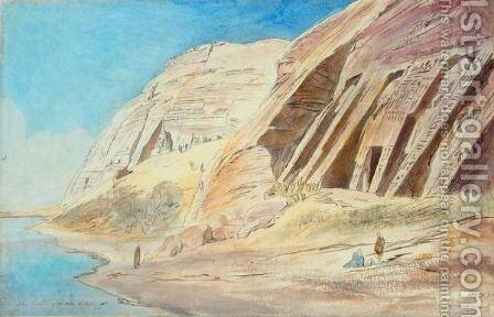 Abou Simbel by Edward Lear - Reproduction Oil Painting