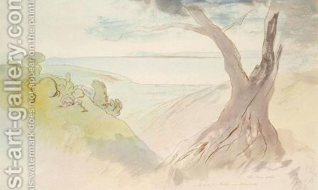 On The Road From Rakle Near Kremnidi, Ionian Islands by Edward Lear - Reproduction Oil Painting