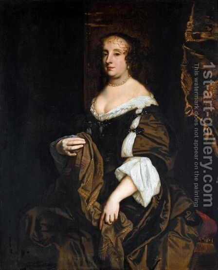 Portrait Of A Lady, Said To Be Anne Hyde, Duchess Of York by (after) Sir Peter Lely - Reproduction Oil Painting