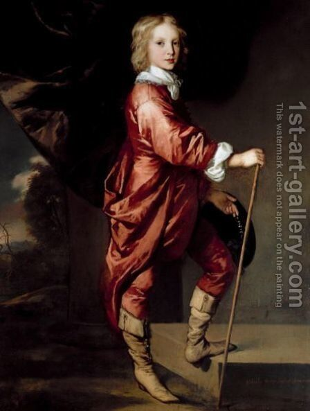 Portrait Of Charles Dormer, 2nd Earl Of Carnarvon (1632-1709) by Sir Peter Lely - Reproduction Oil Painting