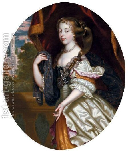 Portrait Of A Lady by Henri Gascars - Reproduction Oil Painting