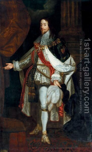 Portrait Of Charles I 2 by (after) Dyck, Sir Anthony van - Reproduction Oil Painting
