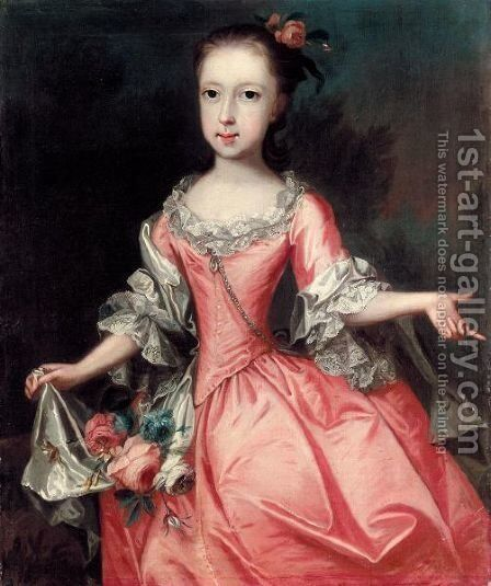 Portrait Of Katherine Stackhouse, Wife Of Jonathan Rashleigh by Edward Smith - Reproduction Oil Painting