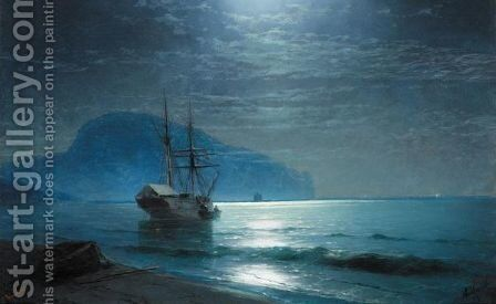 Moonlight In The Ayu-Dag 2 by Ivan Konstantinovich Aivazovsky - Reproduction Oil Painting