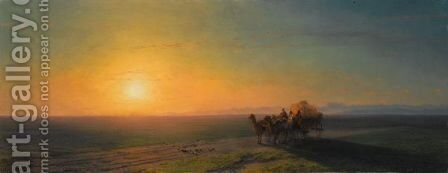 Travellers On The Coast by Ivan Konstantinovich Aivazovsky - Reproduction Oil Painting
