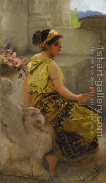 Southern Beauty by Henri Ippolitovich Semiradsky - Reproduction Oil Painting