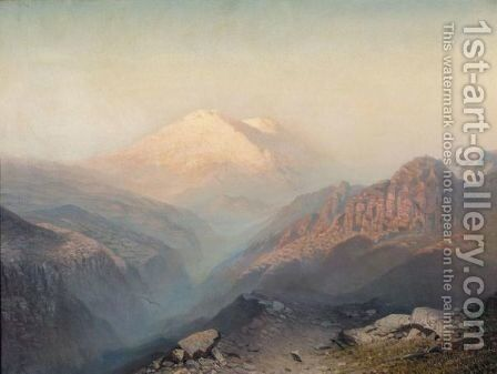 Mount Elbrus by Ilya Nikolaevich Zankovsky - Reproduction Oil Painting