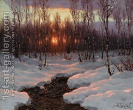 The Sunset by Ivan Fedorovich Choultse - Reproduction Oil Painting