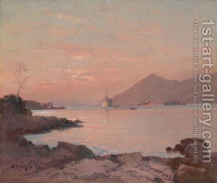 Sunset On The Coast by Aleksei Vasilievich Hanzen - Reproduction Oil Painting