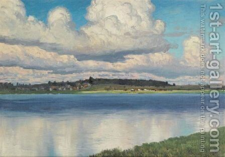 Landscape With Lake by Dmitry Emil'evich Martens - Reproduction Oil Painting