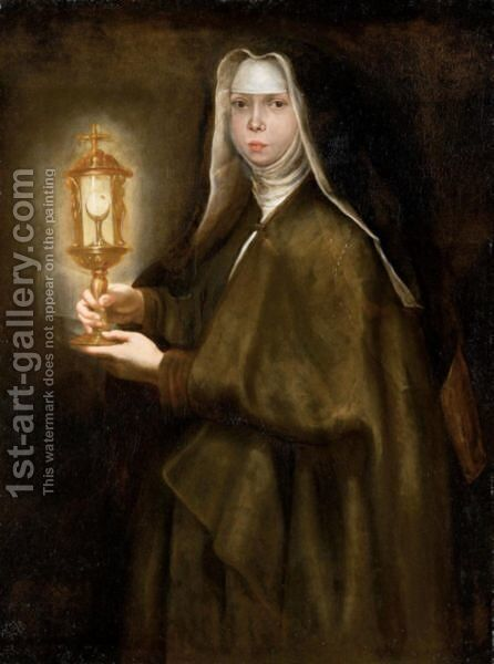 Ritratto Di Maddalena De Ferrari by Gregorio de Ferrari - Reproduction Oil Painting
