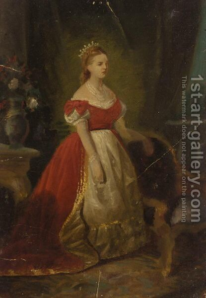Queen Olga Of Greece by Spyridon Prosalentis - Reproduction Oil Painting